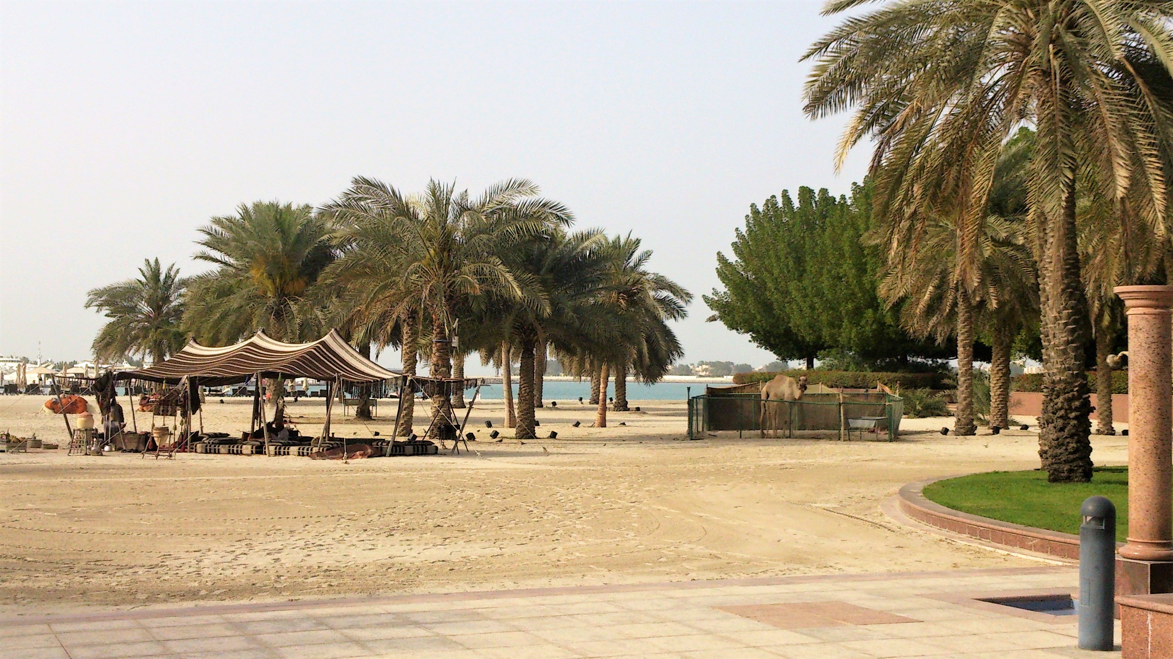 replica of the desert village