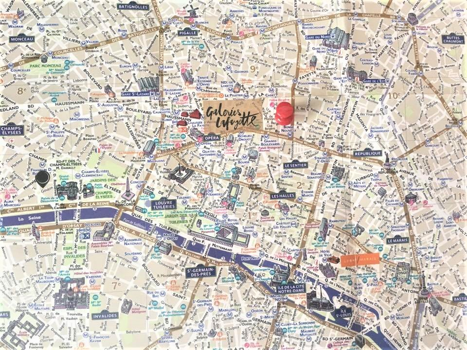 Friendly and chic atmosphere at the hotel de nell paris for Paris hotel map